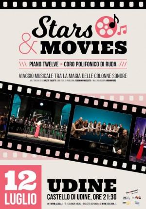 STARS & MOVIES - Viaggio musicale tra la magia delle colonne sonore - Ensemble Piano Twelve e Coro Polifonico di Ruda