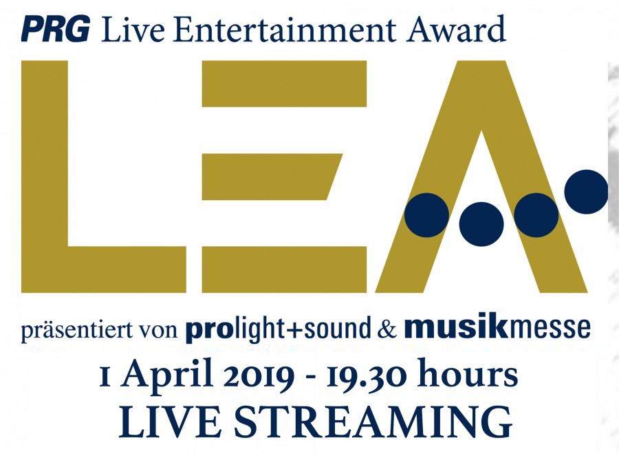 PRG Live Entertainment Award 2019 - follow event live streaming on April 1, 2019
